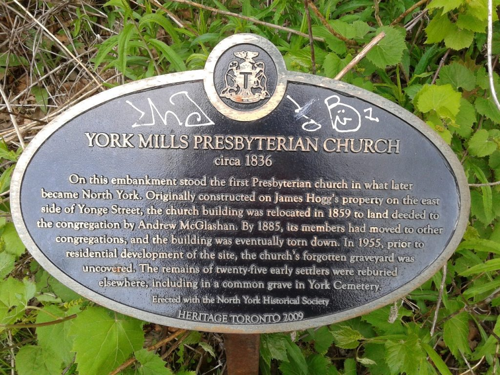 York Mills Presbyterian Church Plaque