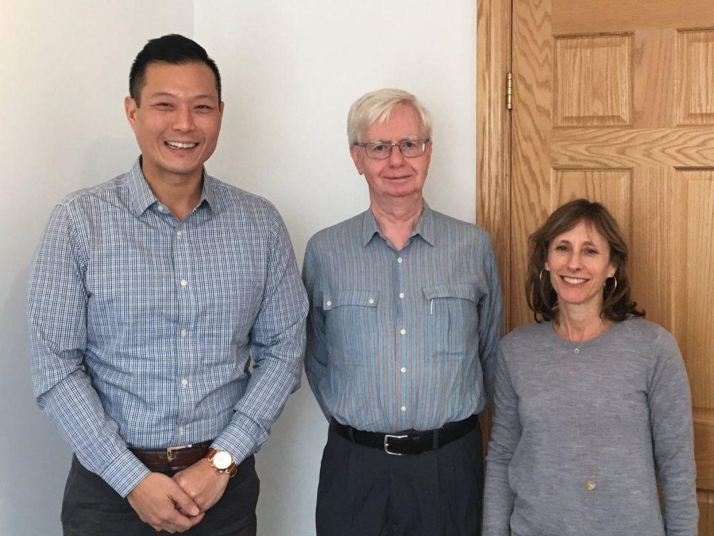 Willowdale MPP Stan Cho, NYHS President Glenn Bonnetta, and NYHS Director Marla Weingarten