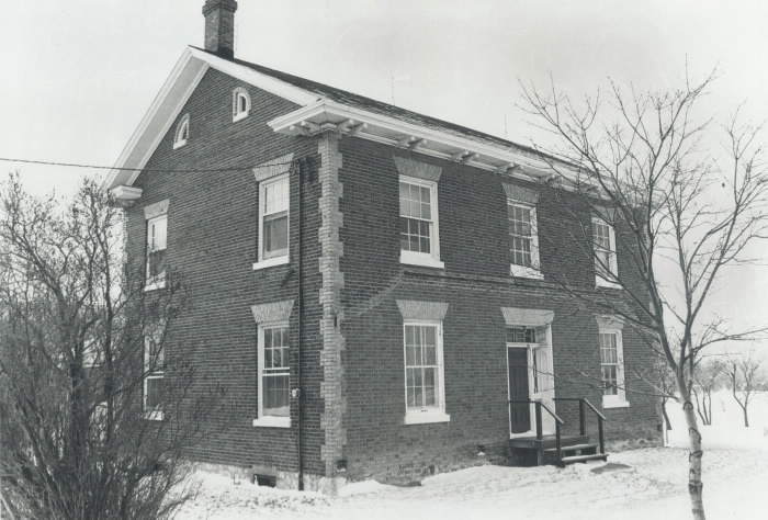 The 1850 Stong Farmhouse at Keele St. and Steeles Ave. in 1975