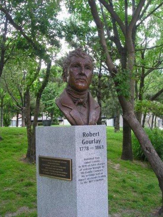 Adrienne Alison's Robert Gourlay, 1778-1863, Social Reformer, St. James Park, 2004 (Photo: NYHS)