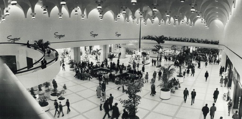 Yorkdale Shopping Centre in 1969, by Boris Spremo (courtesy Toronto Public Library under Toronto Star License)