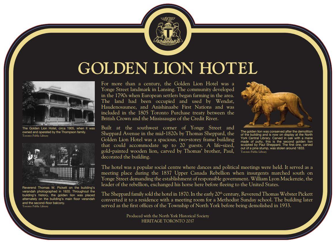 Golden Lion Hotel Plaque