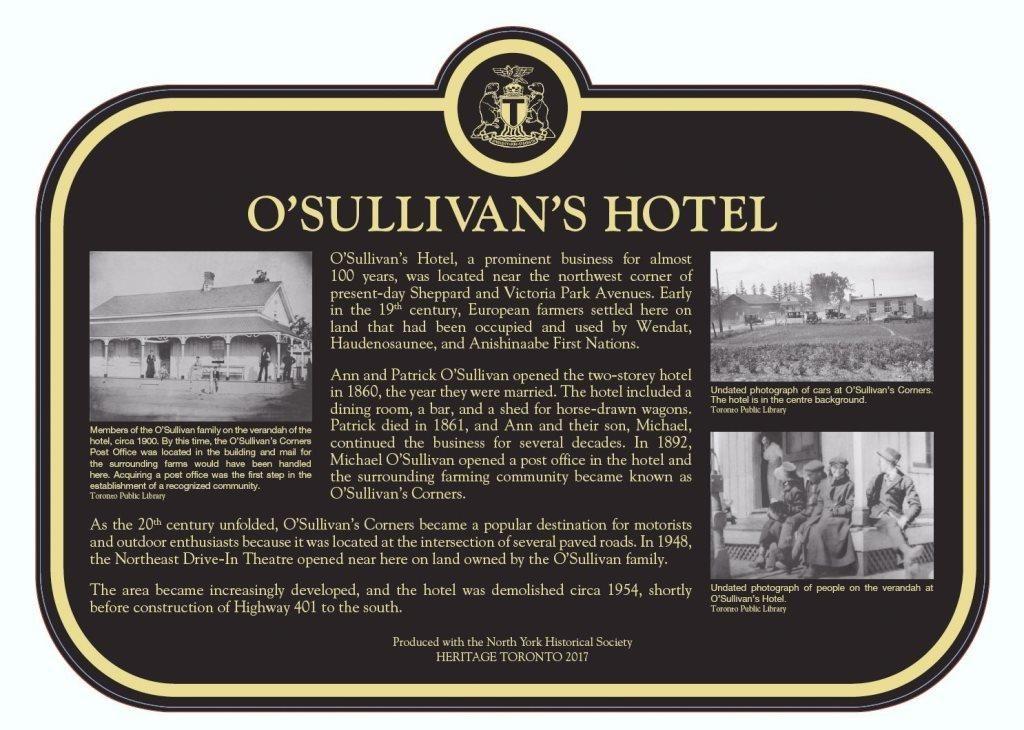O'Sullivan's Hotel Plaque