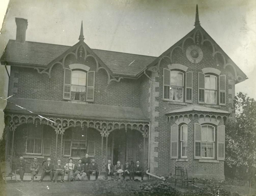 "Shown in 1905, William Duncan III's son David Duncan built ""Moatfield"" c. 1865. The house was relocated in 1986 and is now the David Duncan House restaurant. Courtesy Toronto Public Library."