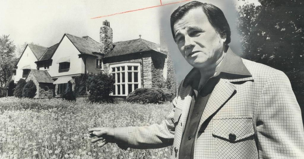 Harry Winton bought author Mazo de la Roche's former home in North York, promising to turn a portion of it into a museum. - Toronto Star file photo