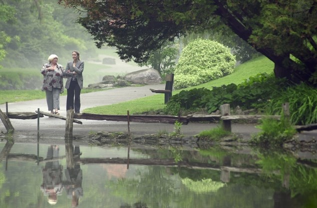 Good friends enjoy a lunchtime walk through Edwards Gardens in this file photo from June 2002. - Tannis Toohey/Toronto Star file photo