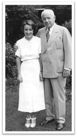 Senator Frank O'Connor and his daughter, Mary, in a photo taken circa 1939. - Toronto Star file photo