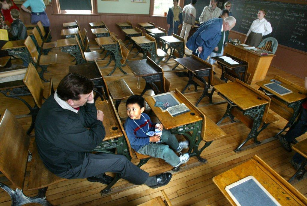 Zion Schoolhouse on Finch Avenue East, which is still preserved as a historic site, is visited during a past Doors Open Toronto event. - Ron Bull/Toronto Star file photo