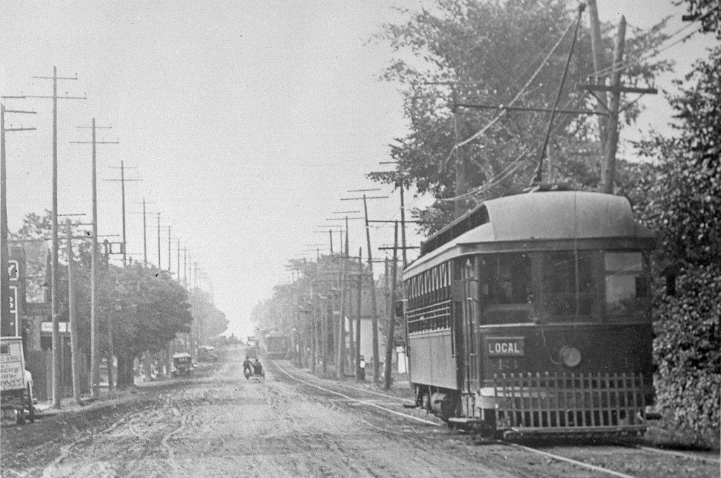 This photo, from 1912, shows a Toronto and York Radial Railway streetcar on Yonge Street (looking south on Yonge Street at Sherwood Avenue). - Public domain/courtesy of Toronto Public Library