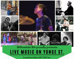 Live Music on Yonge Street @ Yonge Street between just North of Finch Ave. to just South of Sheppard Ave.
